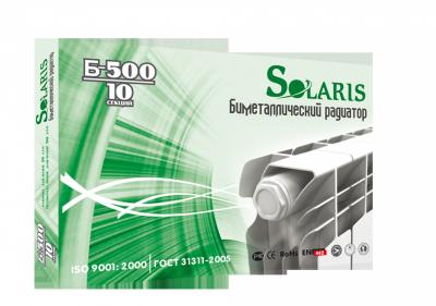 Радиатор отопления биметаллический Solaris B500/10