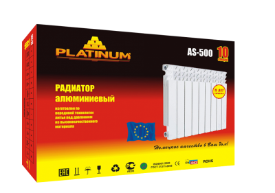 Радиатор отопления алюминиевый Platinum AS-500/10